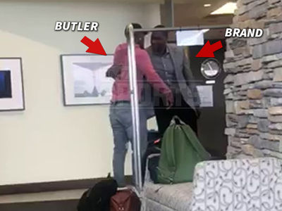 Jimmy Butler Meets, Embraces Sixers GM Elton Brand At Minneapolis Airport