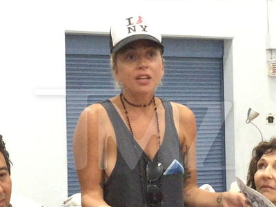 Lady Gaga Volunteers at Red Cross Shelter, 'Let's Keep the Faith'