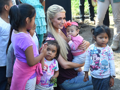 Paris Hilton Visits Town in Mexico for Earthquake Relief