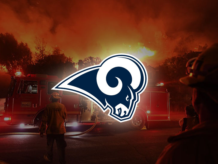 The L.A. Rams are giving the Thousand Oaks community something to cheer about in the wake of recent tragedies