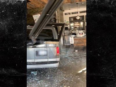Van Crashes Through Fat Sal's in Hollywood