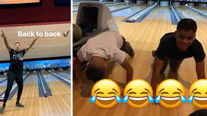 Matt Barnes Dominates Twin Boys At Bowling Alley, Loser Does Push-ups!