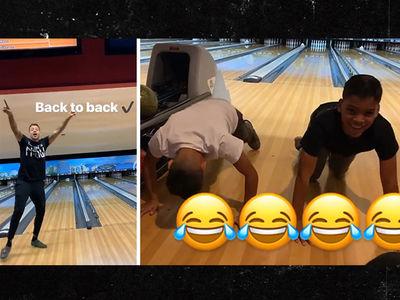 Matt Barnes Dominates Twin Boys At Bowling Alley, Loser Does Push-ups!