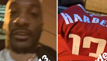 James Harden Gives Signed Jersey To Aqib Talib, 'That Thing Still Sweaty!'