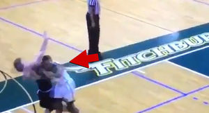 College Basketball Player Viciously Elbows Opponent in Face During Disgusting Play