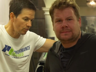 James Corden Joins Mark Wahlberg for a 4am Workout and It Does NOT Go Well