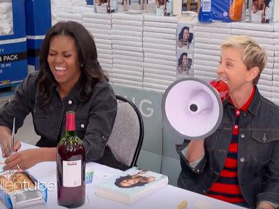 Obama & Ellen Cause CHAOS In a Costco -- Michelle Shows Barack Impression, SHADES Trump!