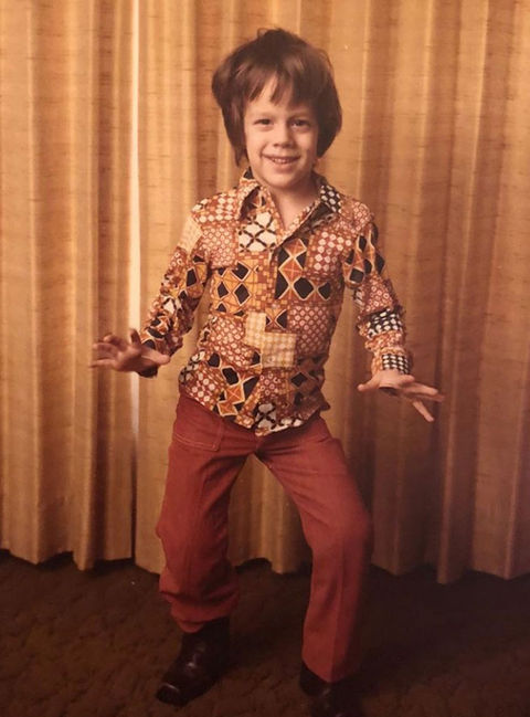 Before this disco dude was getting patched up after his crazy stunts, he was just another '70s kid with serious style in Knoxville, TN!