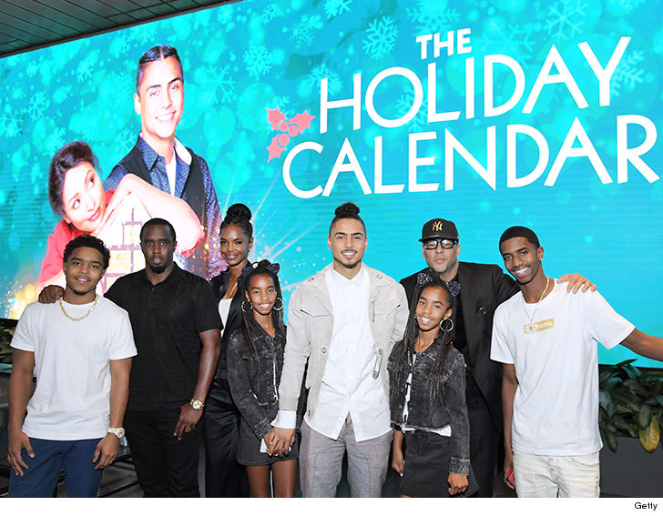 The whole family was last together in public supporting Quincy at last month's premiere for his movie