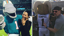 Kick Off NFL Sunday With These Famous Football Fans and Mascots!