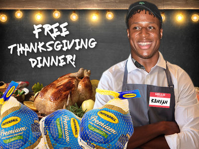 Dolphins' Kenyan Drake Serving Thanksgiving Dinner to Underprivileged Kids at Stadium