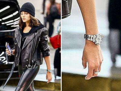 Olivia Culpo Rocks Danny Amendola's Birthday Rolex in Skin-Tight Leather Pants