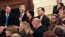 Brett Kavanaugh Looking Thrilled Beside Fellow Supreme Court Justices, Including RBG