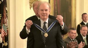 Donald Trump Presents Roger Staubach With Award, Tells Epic Golf Story