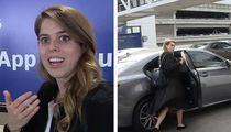 Princess Beatrice Takes an Uber After Arriving in Los Angeles