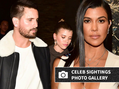 Kourtney, Scott & Sofia All Out TOGETHER -- And WOW, Wait'll You See Kourt's Outfit!