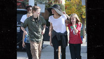 Angelina Jolie & Kids Go for a Dog Walk Amid Custody War with Brad Pitt