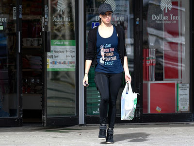 Casey Anthony Shops at Dollar Tree Wearing Ruth Bader Ginsburg T-Shirt
