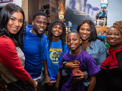 Kevin Hart and Ex-Wife, Torrei, Throw Son Fortnite-Themed Birthday Party