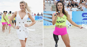 Hot Bikini Models Ball Out In S.I. Swimsuit Soccer Match