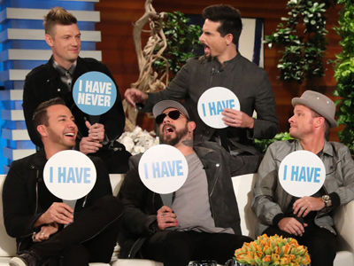 Backstreet Boys Play Never Have I Ever -- Who Hooked Up with a Groupie & Joined Mile High Club?!