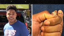 NFL's Sterling Shepard Rips Nail Off Big Toe in Disgusting Video