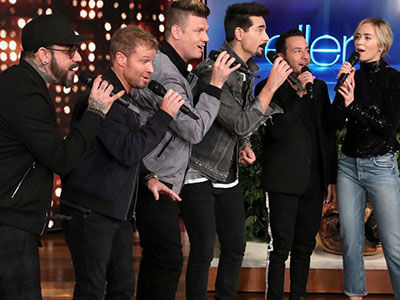 Don't Ask How or Why 'Ellen' Brought Emily Blunt and Backstreet Boys Together to Sing, Just Be Glad…