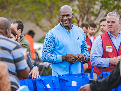 Michael Jordan Dishes Out Thanksgiving Meals to Hurricane Victims in North Carolina