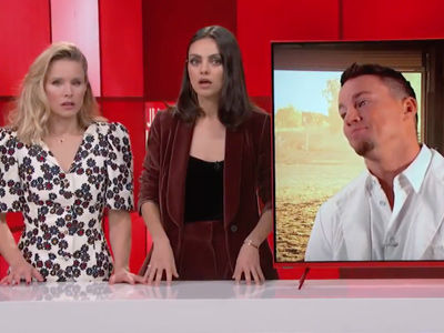 Why Kristen Bell & Mila Kunis Objectified the Hell Out of Channing Tatum on 'Jimmy Kimmel Live'