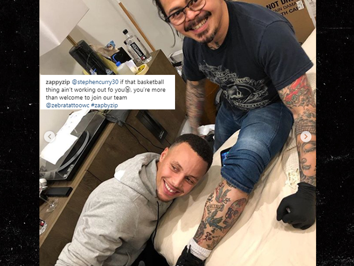 7a5fa7cc1571 Steph Curry Inks Up His Personal Tattoo Artist