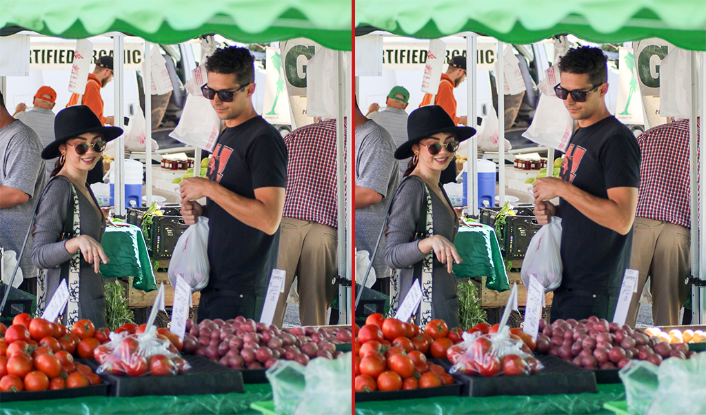 Can you spot the THREE differences in these Sarah Hyland and Wells Adams photos?