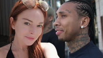 Lindsay Lohan Didn't Get a Taste of Tyga, She's Just Thirsty on Instagram