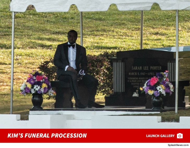 diddy leaves kim porter s funeral procession heads to cemetery for