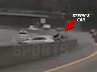 Steph Curry Crash Video Shows Porsche Smashed By Out of Control Car