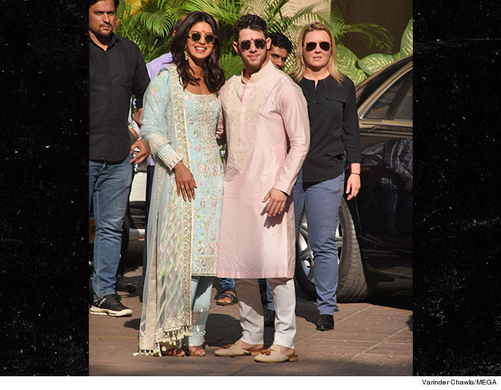Priyanka Chopra And Nick Jonas Wear Traditional Indian Garb Ahead Of