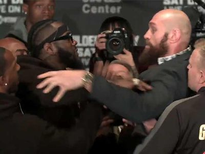 Deontay Wilder and Tyson Fury in Heated Altercation During Face-Offs
