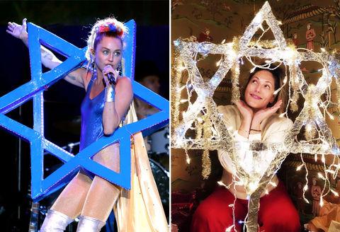Miley Cyrus (26) vs. Ingrid Haas (32) -- Happy Hanukkah Edition