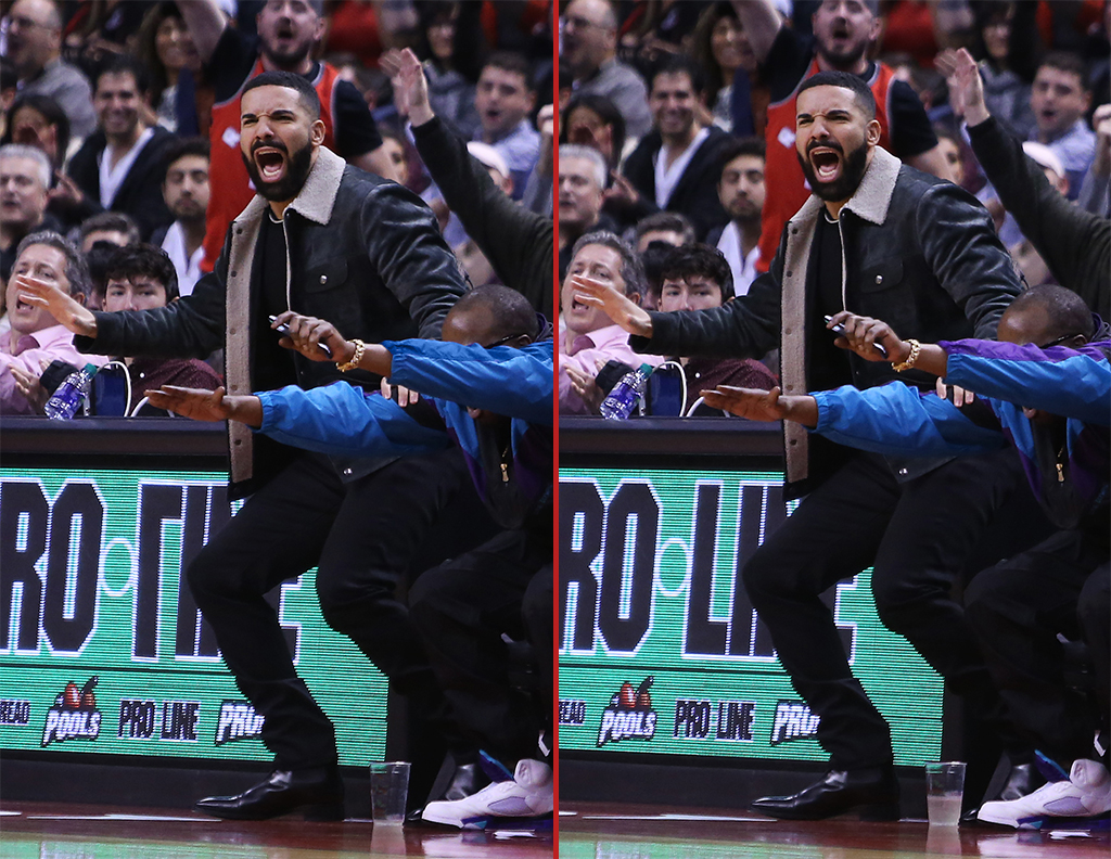 Can you spot the THREE differences in these Drake photos?
