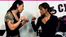 Halle Berry Training with UFC Star Cris Cyborg