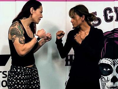 Halle Berry Training with UFC Star Cris Cyborg