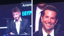 Sean Penn Clowns Bradley Cooper at Event Honoring 'Star is Born' Star