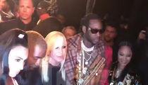 Kim Kardashian, Kanye West, 2 Chainz and Hailey Bieber Hang Together at Versace Show