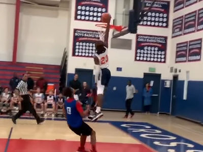 Bronny James Dunks and Drops 27 Points in Crossroads Debut While LeBron Watches