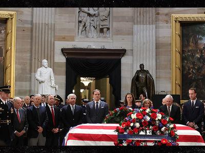 Peyton Manning, Jack Nicklaus Pay Respects at George H.W. Bush Memorial