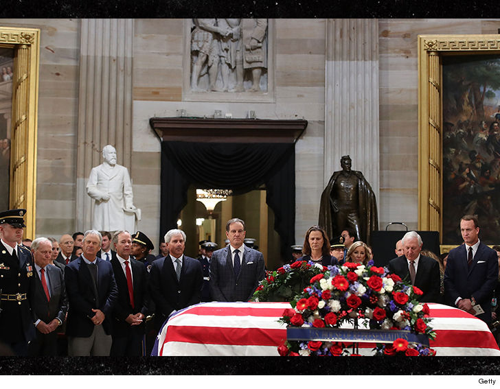 Sports legends from all over the country gathered at the Capitol Rotunda in Washington D.C. on Tuesday to pay tribute to George H.W. Bush