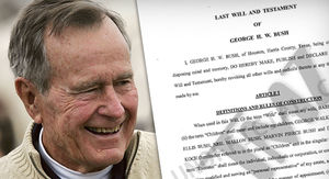 George H.W. Bush's Will Leaves George and Jeb Bush In Charge
