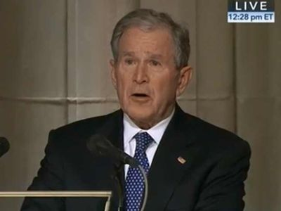 George W. Bush Breaks Down Eulogizing His Father, Pres. George H.W. Bush