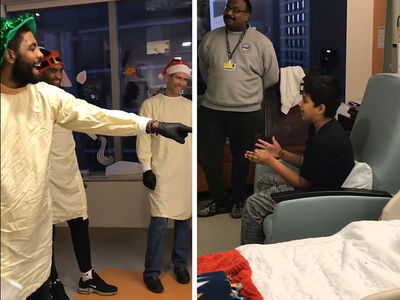Kyrie Irving Roasted By Kid at Children's Hospital, Duke Lost!