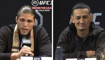 Brian Ortega Prays for Max Holloway's Health, 'I Really Do Care About You'
