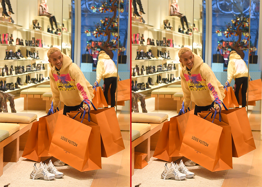 Can you spot the THREE differences in these Jaden Smith photos?